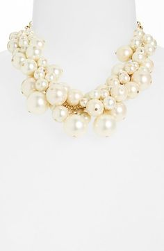 "faux pearl bib necklace - this will add the ""it"" factor to ANY outfit!!!  $68!"