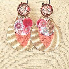 """Boucles Ikita Paris """" Clip """" shoppingnet.fr Boucles d'oreilles Clips - Dorées. Création Ikita Paris - Bijoux Fantaisies"""