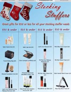STOCKING STUFFERS!! On a budget?Mary Kay still has something for you! A small gift goes a long way pick and choose what you want to spend and you can buy at your budget:-) Shop my On-line Holiday Store Today! www.MaryKay.com/latinabrownbeautyqueenxxx by alana
