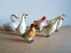 French Animal Celluloid Painted Figurine Farm by LaBelleEpoqueDeco