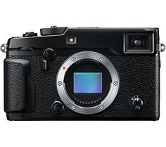 FUJIFILM  X-Pro2 Compact System Camera - Black, Body Only, Black Price: £ 1349.00 Enjoy a combination of high-quality image capture and a slim, portable frame with Fujifilm X-Pro2 Compact System Camera . Use different lenses from the compatible Fujinon series to really expand your photographic options without bulking out your kitbag. Incredible images from a high-performance sensor and...