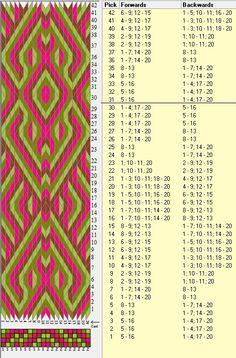 20 tarjetas, 4 colores, repite cada 30 movimientos // sed_373 diseñado en GTT༺❁