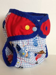 Made to Order  Nautical PUL Cloth Swim Diaper by PooPatchDiapers
