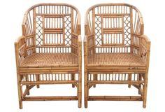 Brighton Pavilion Bamboo Chairs, Pair