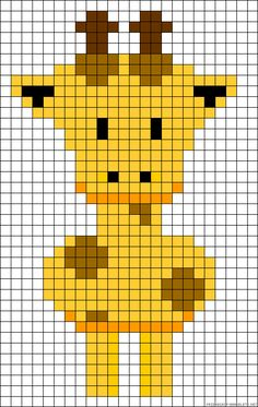 I bet this could also be used for knitting Giraffe perler bead pattern