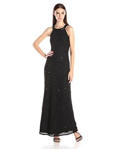 Adrianna Papell Women's Halter Beaded Gown with Open Back, Black, 2 Adrianna Papell http://www.amazon.com/dp/B00YG7GS0E/ref=cm_sw_r_pi_dp_vxwowb19HFP2J