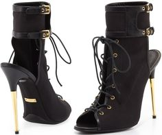 Tom Ford Stretch Canvas Lace-Up Bootie.....love these!