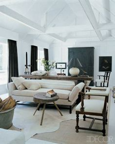 I'm trying to convince K to paint our family room all white.  This pic might help my case...