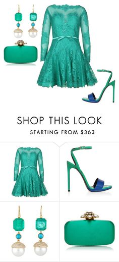 """""""Untitled #22583"""" by edasn12 ❤ liked on Polyvore featuring Forever Unique, Yves Saint Laurent, Irene Neuwirth and Oscar de la Renta"""