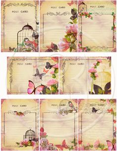 Shabby+Chic+ATC+digital+Cards+collages+by+arinaatelierDigital,+$3.80