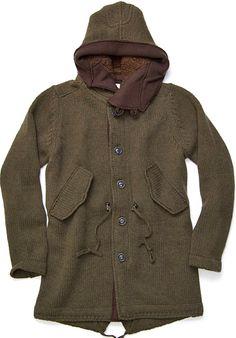 Esemplare N° 61 Sebastian Knitted Wool Parka
