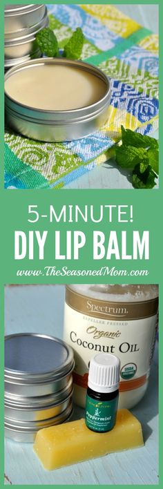 This 5-Minute DIY Lip Balm only needs 3 ingredients and a microwave! So easy, so luxurious, and the perfect little gift!