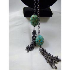 Turquoise Composite Lariat