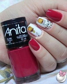 #unha #unhas #nail #nails #nailart #naildesign #esmalte #esmaltes #cores #dog #esmaltevermelho #redpolish #rednails #unhasdelicadas #polish #glaze #nailpolish #girl #manicure #mani #fashion #beauty #cool #cutenails #lovenails #mynails