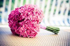 розовая гортензия букет невесты - Google Search