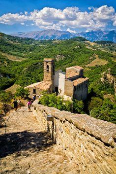 The church of San Pietro - Roccascalegna, Abruzzo, Italy