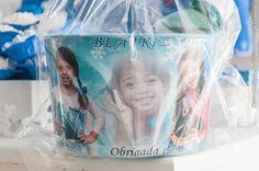 Kit Cinema Frozen <br> <br>Pipoca + Guarana + Balde de pipoca personalizados.