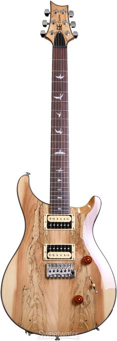 PRS SE Custom 24, Exclusive Finish - Spalted Maple, Natural | Sweetwater.com