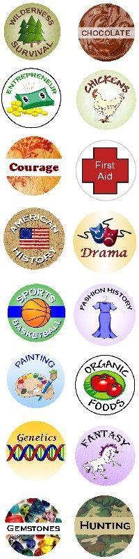 Frontier Girls Badges