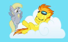 Spitfire And Derpy Hooves HD Wallpaper