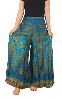 Lannaclothesdesign Womens 40 Inches Length Lounge Palazzo Pants Wide Legs S M L XL Sizes Bohemian Fall Outfits, Bohemian Style Clothing, Wide Leg Yoga Pants, Wide Leg Trousers, Kalif Storch, Thai Pants, Lino Natural, Hippie Pants, Outfits