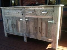 Dresser idea made with pallet planks