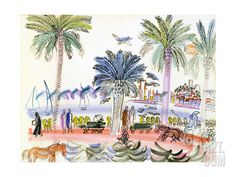 View of Le Suquet, Cannes Giclee Print by Raoul Dufy at Art.com