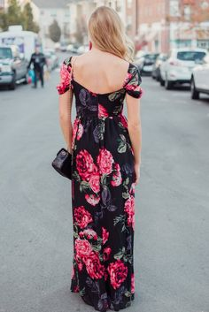 Garden Florals Maxi Dress – Swoon Boutique