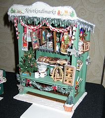 Christmas market stall on display at a Culver City miniature show in 2009.
