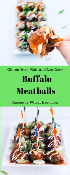 An easy meatball appetizer with some heat to it Gluten Free Appetizers, Gluten Free Recipes, Low Carb Recipes, Appetizer Recipes, Dog Food Recipes, Buffalo Meatballs, Evening Meals, Nutritious Meals, How To Cook Pasta