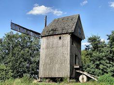 Historische Bockwindmühle in Mierzyn (deutsch Möhringen)  Kreis Randow