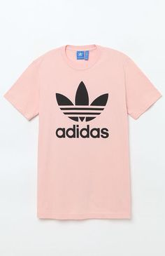 adidas Originals Trefoil S/S Logo T-Shirt - Men's - Small white/black Adidas Originals, Site Nike, Pink Adidas, Only Fashion, Dope Outfits, Cute Shirts, Fitness Fashion, Shirt Designs, My Style