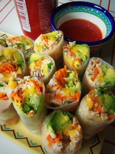 Crab and Veggie Fresh Spring Rolls