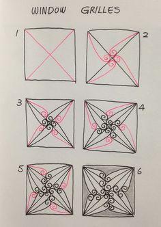 Window Grilles~Zentangle