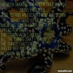 "-- #LyricArt for ""The Past"" by Never Shout Never"