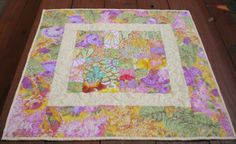 Quilted Table Topper Table Topper Kaffe by SharleesQuiltCottage