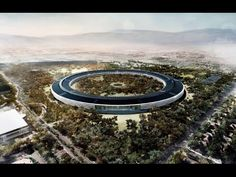 """Apple's newest HQ, Campus 2 (nicknamed 'The Spaceship') will be """"The Greenest Building on the Planet"""" according to Apple CEO Tim Cook. These boasts for the new ring-shaped campus in. Steve Jobs, Apple Headquarters, Metlife Building, Sun Microsystems, Best Documentaries, Apple New, Green Building, Building Design, Futuristic"""