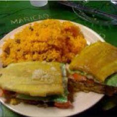 Jibarito & arroz con gandules
