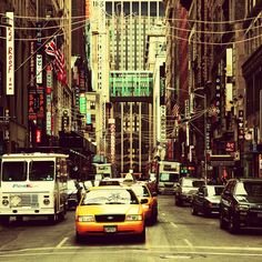 Concrete jungle where dreams are made of. New York Taxi, Go To New York, New York City, Oh The Places You'll Go, Places To Travel, New York Photography, City That Never Sleeps, Living In New York, Concrete Jungle