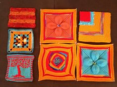 A medley of squares in Palette Squares and Rectangles, made for the Artisphere Yarn Bomb! Yarn Bombing, Squares, Palette, Projects, Log Projects, Blue Prints, Bobs, Pallets