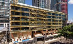 Timber constructions are rapidly carving their rightful place in urban environments all over the world, and now, beautiful Sydney is home to the country's largest commercial all-timber building. The International House by  TZANNES Architects is a seven-story building constructed  entirely with engineered or cross laminated timber.