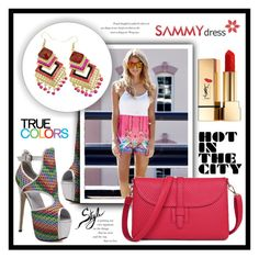 """Hot in the City"" by amra-sarajlic ❤ liked on Polyvore featuring Yves Saint Laurent, Balenciaga and sammydress"