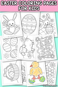 Free Printable Kindergarten Coloring Pages Elegant Printable Easter Coloring Pages for Kids Itsy Bitsy Fun Easter Coloring Pages Printable, Easter Worksheets, Easter Egg Coloring Pages, Spring Coloring Pages, Animal Coloring Pages, Coloring For Kids, Coloring Pages For Kids, Printable Worksheets, Free Easter Printables