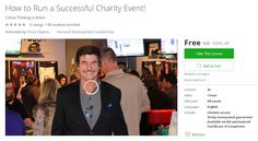 Coupon Udemy - How to Run a Successful Charity Event! (100% Off) - Course Discounts & Free