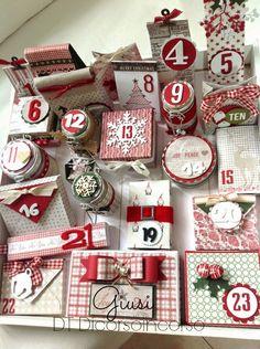 scrapbooking idea for advent calendar ♥