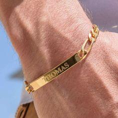 Personalized Men's ID Engraved Bracelet Gold Silver-Custom | #etsy #personalized #mensjewelry #giftforhim #christmasgifts #dadgift #custom #engraved #IDbar #IDbracelet #menbracelet #goldbracelet #giftfordaddy #holidaygiftguide #giftideas #sterlingsilver925 #handmade #engraving #birthdaygift #anniversarygiftidea