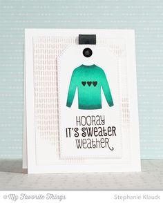 Cozy Greetings, Sweater Stitch Background, Comfy Sweater Die-namics - Stephanie Klauck #mftstamps