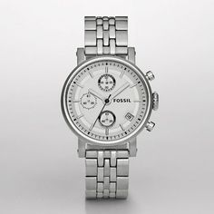 Chronograph Silver Dial Boyfriend Watch