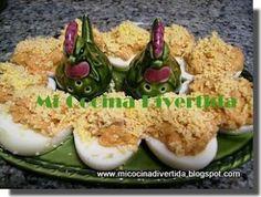 Huevos rellenos con atún.2pp x huevo
