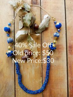 Necklace, Crocheted Glass Beads , Free Delivery, Handmade Jewelry, Unique Design, Ladies Accessories